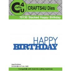 Crafts4U Die Stacked Happy Birthday 70130