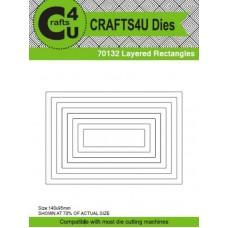 Crafts4U Die Layered Rectangles (8 Dies) 70132