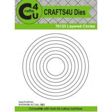 Crafts4U Die Layered Circles (8 Dies) 70133