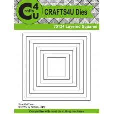 Crafts4U Die Layered Squares (8 Dies) 70134