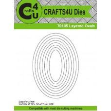 Crafts4U Die Layered Ovals (8 Dies) 70135