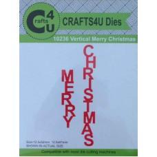 Crafts4U Die Vertical Merry Christmas (2 Dies) 10236