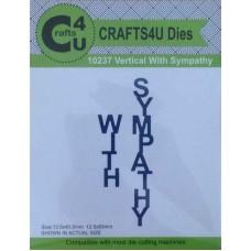 Crafts4U Die Vertical With Sympathy (2 Dies) 10237