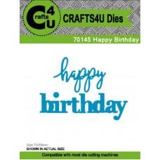 Crafts4U Die Happy Birthday 70145