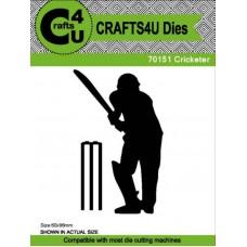 Crafts4U Die Cricketer (2 Dies) 70151
