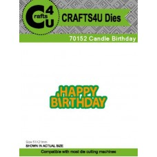 Crafts4U Die Candle Birthday 70152
