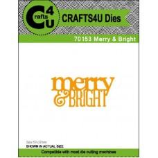 Crafts4U Die Merry & Bright 70153