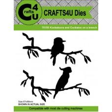 Crafts4U Die Kookaburra and Cockatoo on a Branch 70155