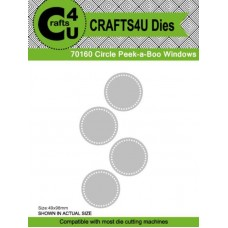 Crafts4U Die Circle Peek-a-Boo Windows 70160