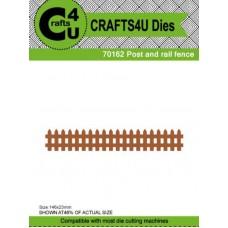 Crafts4U Die Post and Rail Fence 70162