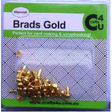 Crafts4U Brads Gold Colour 60 Pack 10032
