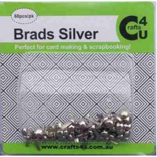 Crafts4U Brads Silver Colour 60 Pack 10033