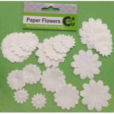 Crafts4U White Paper Flowers 32 Pack 10093