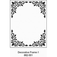 Crafts4U Embossing Folder 4.25 x 5.75in Decorative Frame 1