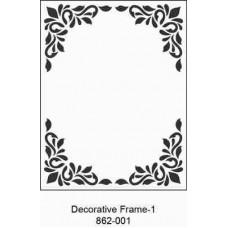 Crafts4U Embossing Folder 4.25 x 5.75in Decorative Frame 1