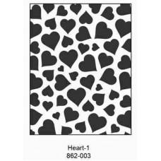 Crafts4U Embossing Folder 4.25 x 5.75in Heart