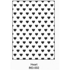 Crafts4U Embossing Folder 5 x 7in Hearts