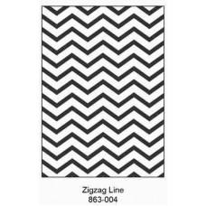 Crafts4U Embossing Folder 5 x 7in Zigzag Line