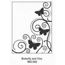 Crafts4U Embossing Folder 4.25 x 5.75in Butterfly and Vine
