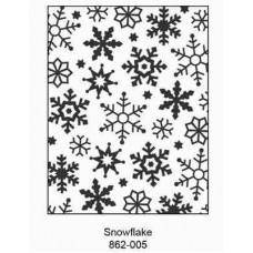 Crafts4U Embossing Folder 4.25 x 5.75in Snowflake