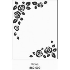 Crafts4U Embossing Folder 4.25 x 5.75in Rose