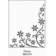 Crafts4U Embossing Folder 4.25 x 5.75in Flower