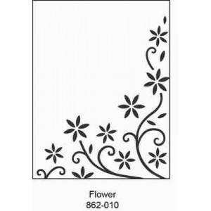 Crafts4U Embossing Folder 4.25 x 5.75in Flower