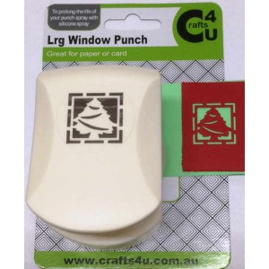 C4U Large Punch Window Xmas Tree 20003