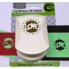 C4U Large Punch Cut & Embossed Love 20005