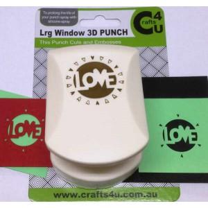 C4U Large Punch Cut & Embossed Love 20005