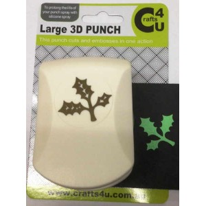 C4U Large Punch Embossed Holly Leaf 20008