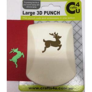 C4U Large Punch Embossed Reindeer 20013