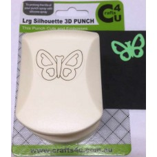 C4U Large Punch Embossed Silhouette Cute Butterfly 20014
