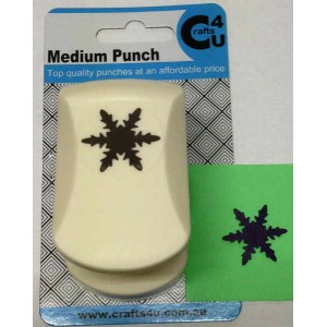 C4U Medium Punch Crystal Snowflake 20025