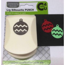 C4U Large Punch Round Ornament Silhouette 20026