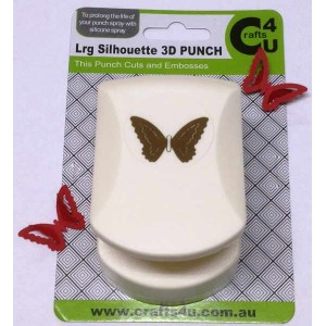 C4U Large Punch Butterfly Silhouette 3D 20029