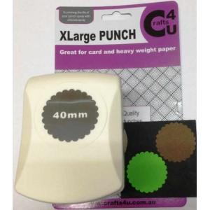 C4U X Large Punch Scallop Circle 40mm 20039