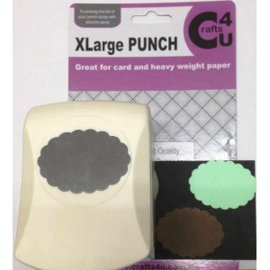 C4U X Large Punch Scallop Oval 51.1 x 36.8mm 20042