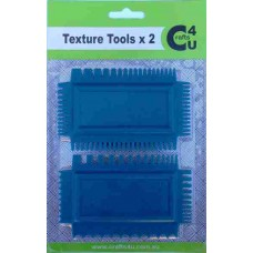 Crafts4U Art Comb Texture Tools 2 Pack 10072