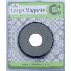 Crafts4U 2 Large 20mm Super Magnets for Stamping Tools 10135