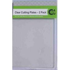 Crafts4U Standard Clear Cutting Plates - 2 per Pack 10061