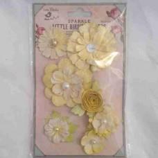 Little Birdie Argyle Lemon 7pk CR55660