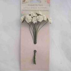 Little Birdie Curly Rose Cream 12pk CR62799