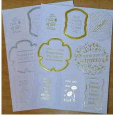 Tonic Die Cut Sentiments 4 Pack Celebrations Toppers